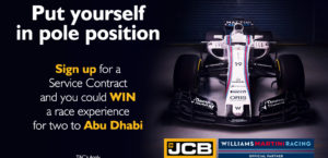 Sign up for a Service Contract at ECI JCB and you could win a race experience for two in Abu Dhabi!